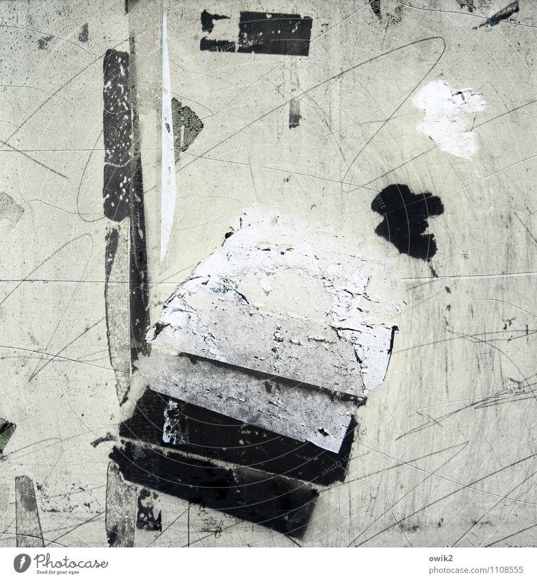 Zerrüttet Holz Glas Metall alt dreckig nah trashig Zerstörung Kratzer Abnutzung Vergänglichkeit Zahn der Zeit unklar Bilderrätsel Linie Kritzelei Kunststoff