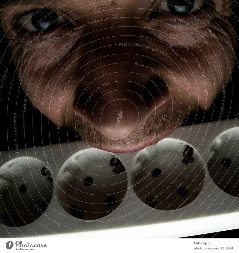 stromfresser Mensch Mann Gesicht lustig Energiewirtschaft verrückt Elektrizität Technik & Technologie Freak Witz Bildausschnitt beißen Steckdose Anschnitt nerdig Kunde