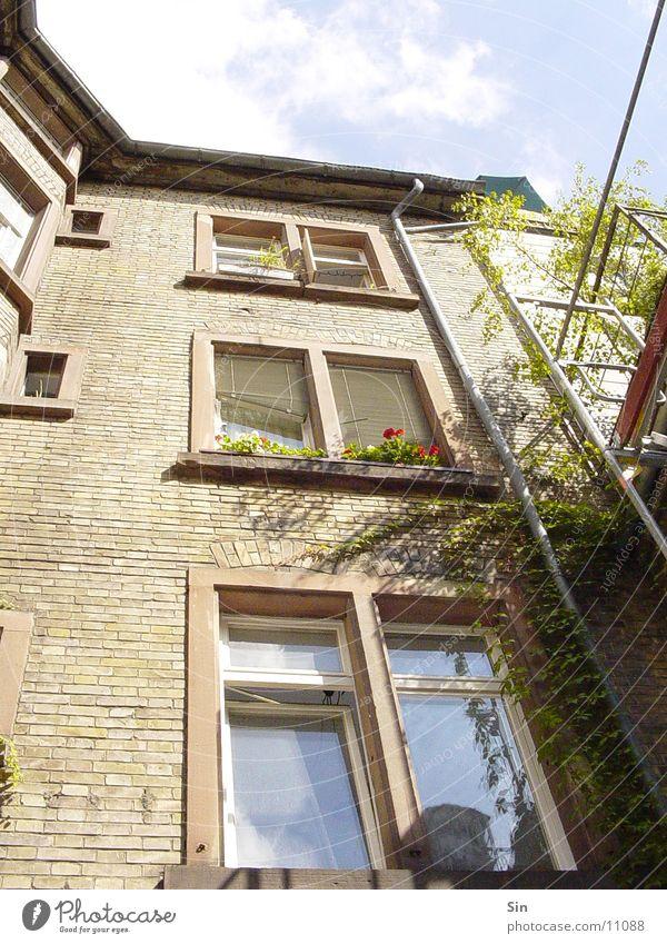 Innenhof Himmel Haus Fenster Architektur hoch