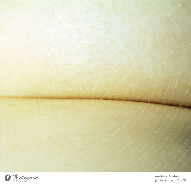 Falte Mensch schwarz dunkel Linie Haut Fett Fleisch Pore Lebensmittel Speck