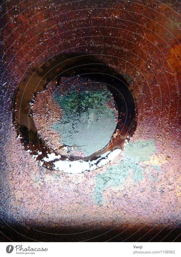 Tinte Farbstoff glänzend dreckig Kreis Zeichen Kunststoff Flüssigkeit Farbenspiel Klebrig Farbschicht
