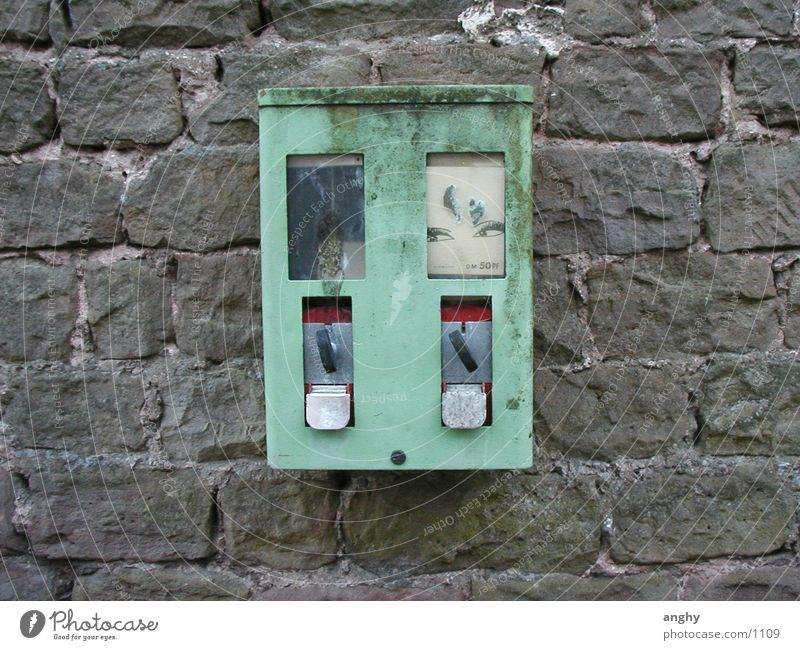 Kaugummiautomat grün Wand Dinge hässlich Süßwaren Automat