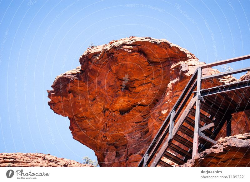 Felsen Nase Ferien & Urlaub & Reisen schön Farbe Sommer rot ruhig Freude Umwelt außergewöhnlich Stein Treppe leuchten fantastisch genießen beobachten