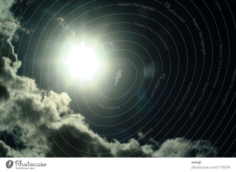 Sonne - ach nee?! Beleuchtung Sommer dunkel außergewöhnlich Wolken Himmel Unwetter böse Sonnenfleck falsch blau grell Licht sun sunshine Lichterscheinung sky
