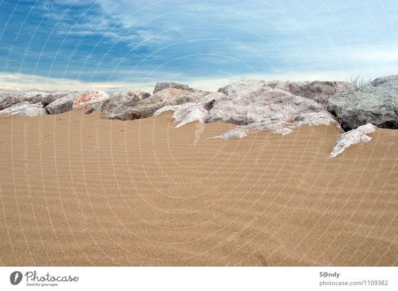 Strand Italien Himmel Natur Ferien & Urlaub & Reisen blau weiß Sommer Erholung Landschaft ruhig natürlich Küste Spielen Feste & Feiern Freiheit