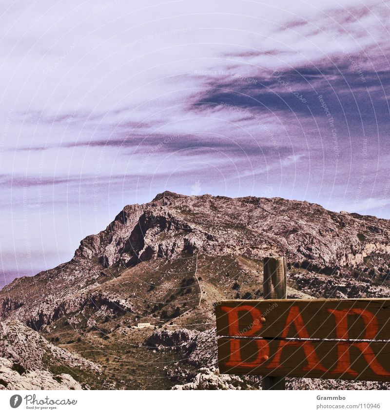wunderBar Himmel Ferien & Urlaub & Reisen Wolken Erholung Wiese Berge u. Gebirge Stein Wege & Pfade wandern hoch Mallorca Matten