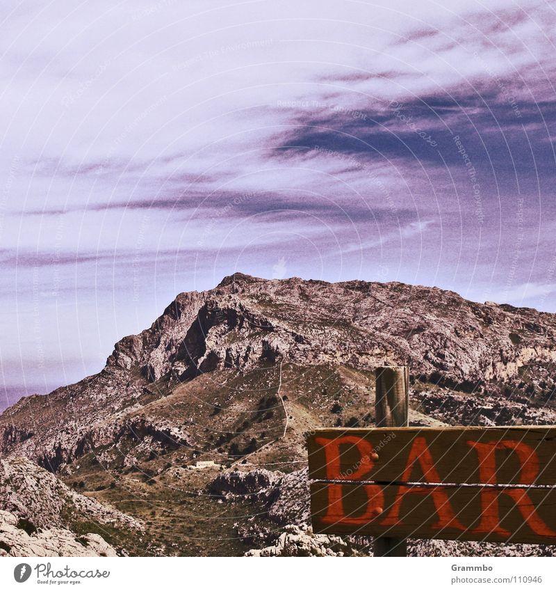 wunderBar Himmel Ferien & Urlaub & Reisen Wolken Erholung Wiese Berge u. Gebirge Stein Wege & Pfade wandern hoch Bar Mallorca Matten