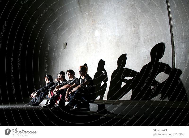 The Stories schön Straße Musik Coolness fantastisch Konzert Schnur Tunnel Krach Sau Schwein Hausschwein