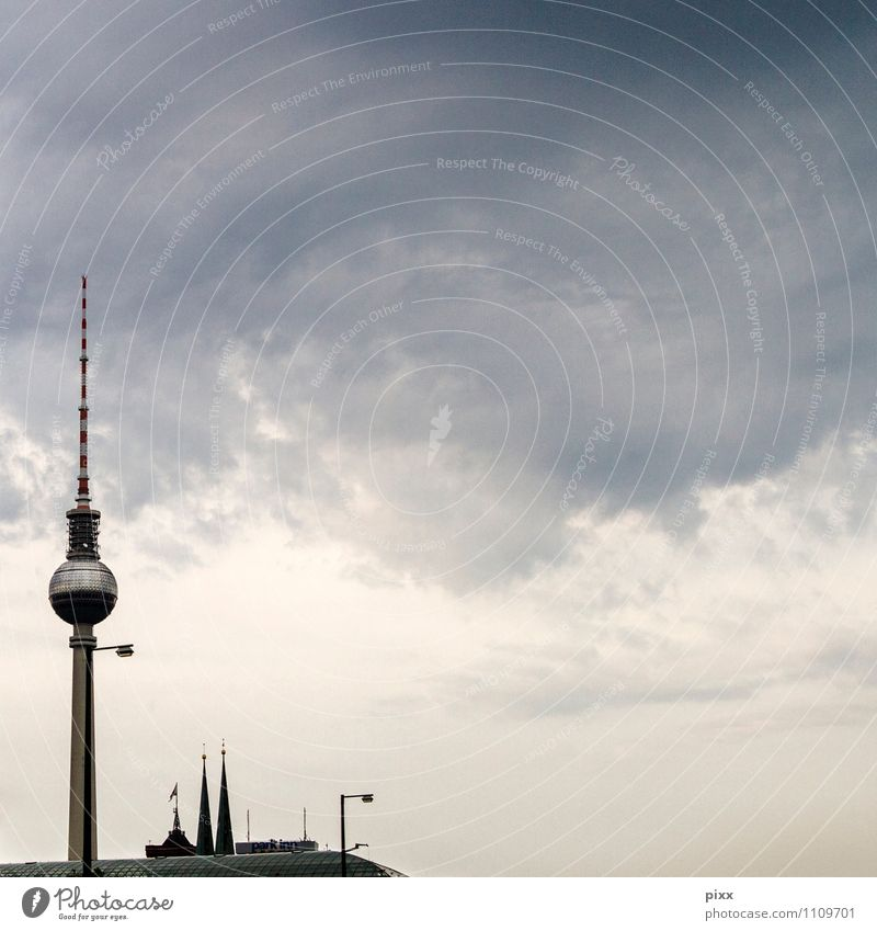 368m Landschaft Architektur Stil Berlin Freiheit Metall Regen Tourismus Glas Technik & Technologie Beton Kirche Telekommunikation Dach Zeichen Turm