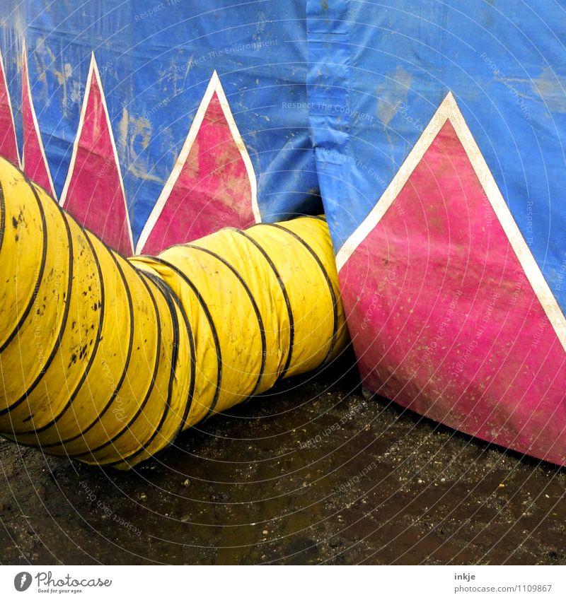 Zirkusluft Freude Freizeit & Hobby Entertainment Karneval Jahrmarkt Veranstaltung Zirkuszelt Tunnel Röhren Luftzufuhr Ornament Linie Zacken Zickzack dreckig