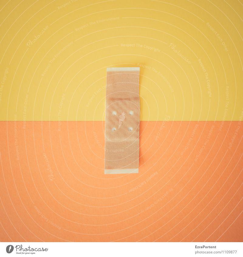 farblicher Zusammenhalt G|O Linie gelb orange Design Farbe Heftpflaster Papier Punkt zusammenpassen Verbundenheit Grafische Darstellung graphisch