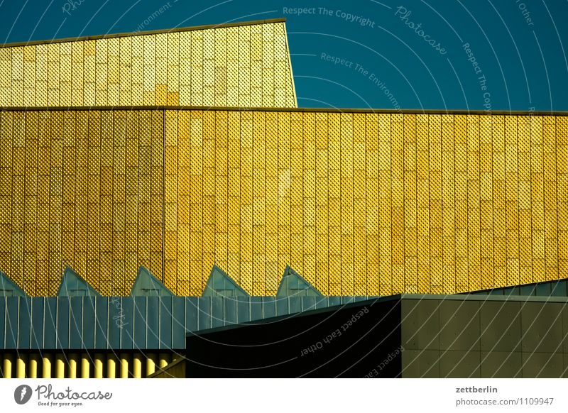 Potsdamer Platz Berlin Hauptstadt Stadt Stadtleben Architektur modern Farbe Strukturen & Formen Fassade Geometrie Muster Theater Haus Gebäude Tourismus