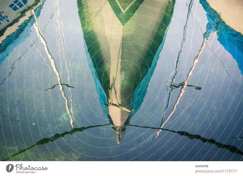 ABBILD Ausflug Abenteuer Freiheit Umwelt Natur Urelemente Wasser Schifffahrt Bootsfahrt Segelboot Segelschiff blau grün Ferien & Urlaub & Reisen