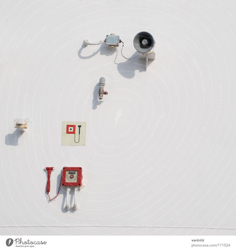 Life Safety alt weiß Leben Wand Fenster Wasserfahrzeug Brand Elektrizität Industrie Kabel Desaster Lautsprecher Gerät retten Zweck sehr wenige