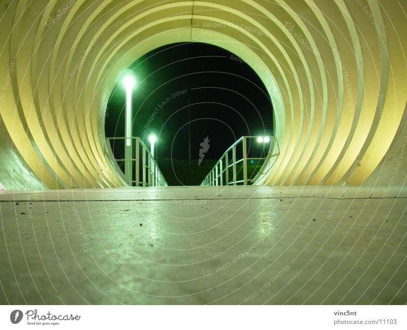 that way Tunnel Nacht rund Architektur modern Wege & Pfade