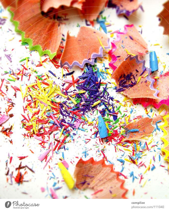 jetzt bin ich spitz! mehrfarbig Farbstift Gemälde 4 dreckig Müll Schreibstift Bleistift blau rosa gelb grün Punk Punkrock Spitze gespitzt angespitzt
