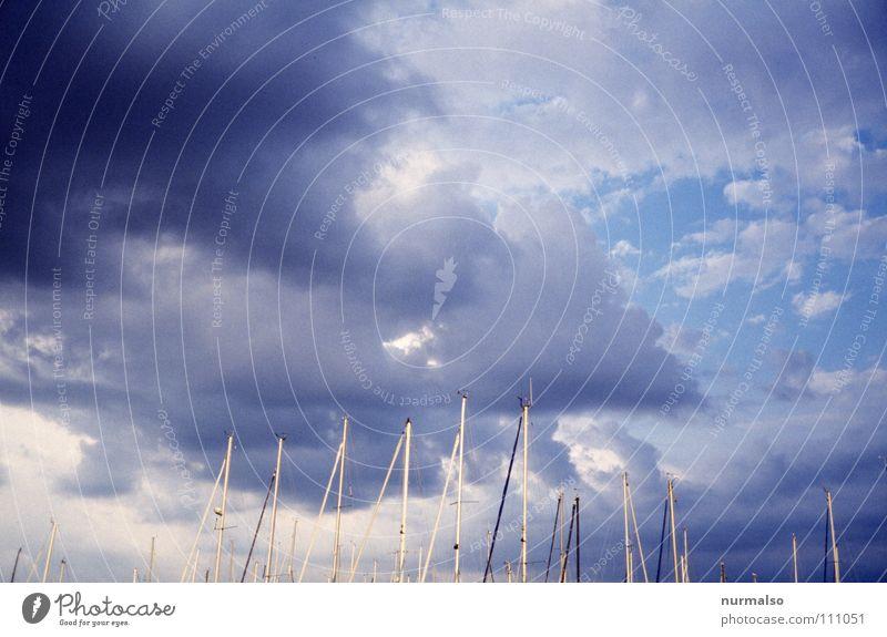 Wetterwarnung Sommer Strand Wolken Spielen See Regen Kraft Hafen Bucht Steg Gewitter Unwetter Schifffahrt Ostsee Strommast