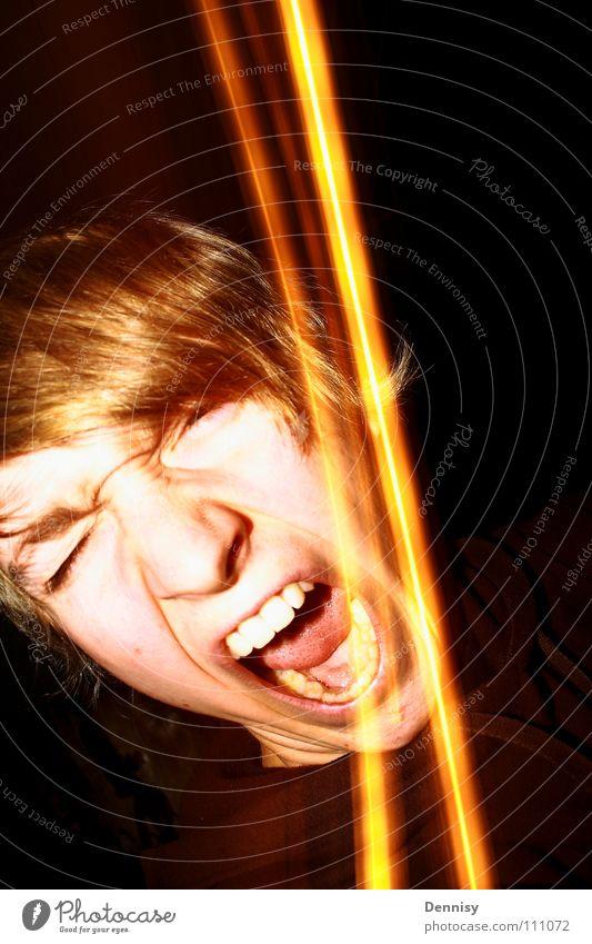 SCHREI NICHT SO! II Lampe dunkel Haare & Frisuren Wut schreien Ärger