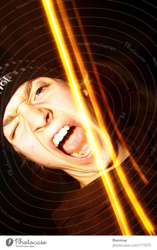 SCHREI NICHT SO mit mütze Licht schreien Wut Ärger wusch bums bams Haare & Frisuren dunke l lampe