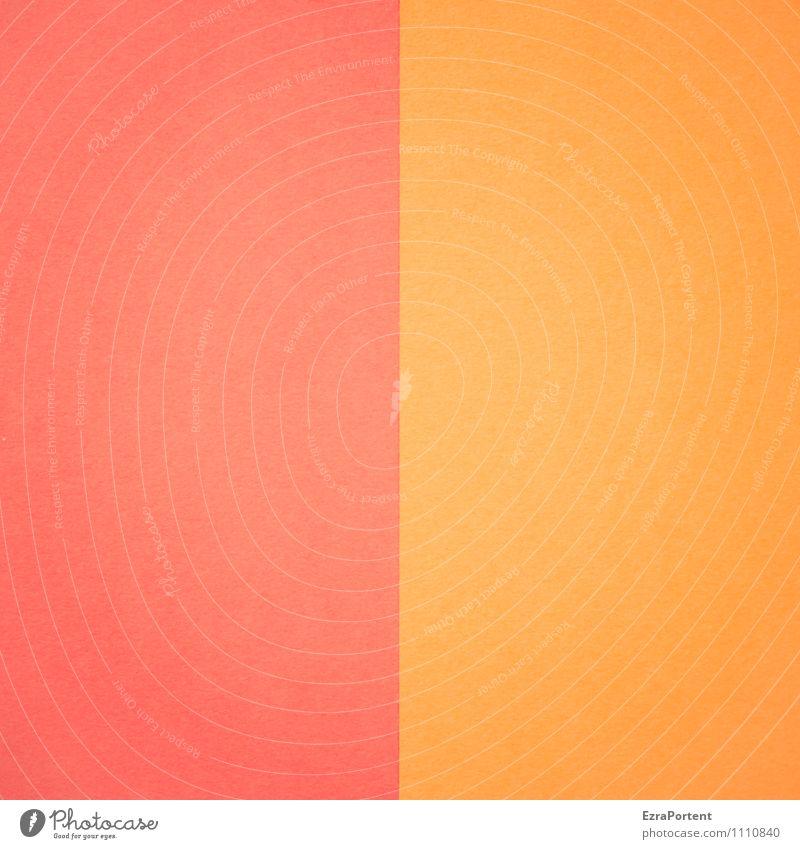 R | O Farbe rot Linie Zusammensein orange Design Papier Grafik u. Illustration graphisch zusammenpassen Grafische Darstellung mehrfarbig