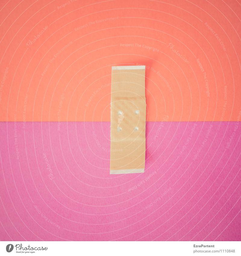 farblicher Zusammenhalt L|R Farbe rot Linie Design ästhetisch Grafik u. Illustration violett graphisch Heftpflaster trösten verwundbar Grafische Darstellung