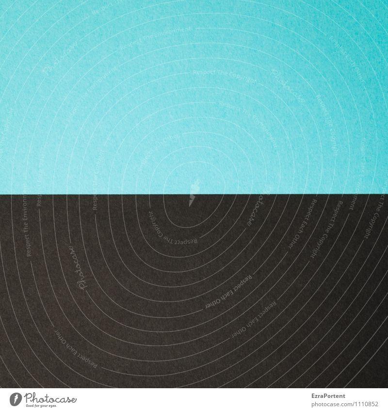 B | S Linie ästhetisch blau schwarz Design Farbe Papier Grafik u. Illustration Grafische Darstellung graphisch Farbenspiel zusammenpassen Farbfoto Innenaufnahme