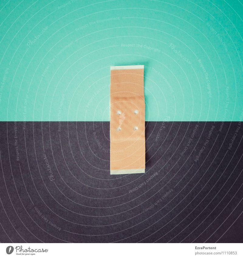farblicher Zusammenhalt T|S Linie schwarz türkis Design Farbe Punkt Heftpflaster Trennung Zusammensein Papier Grafik u. Illustration Grafische Darstellung