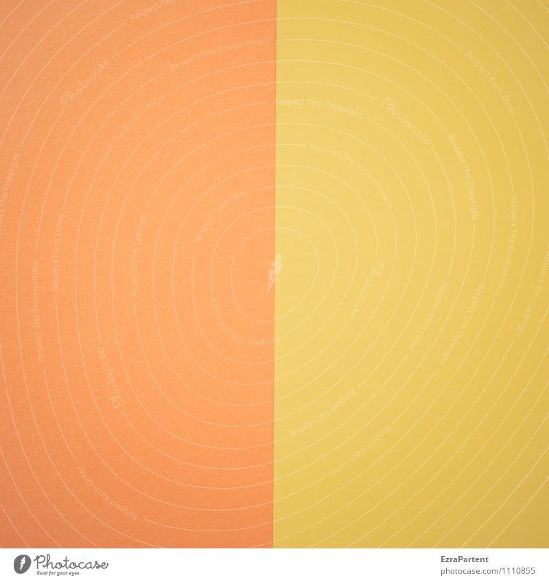 O | G Linie gelb orange Design Farbe zusammenpassen Papier mehrfarbig Grafik u. Illustration Grafische Darstellung graphisch Farbfoto Innenaufnahme Experiment