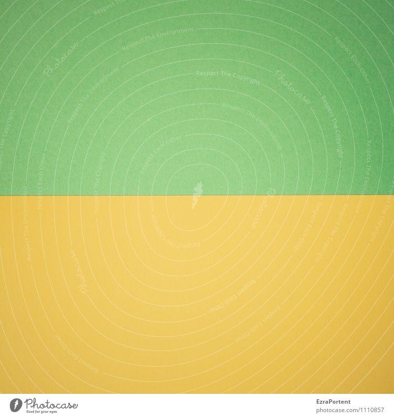G | G² Linie ästhetisch gelb grün Design Farbe Grafische Darstellung Grafik u. Illustration graphisch Papier Zusammensein zusammenpassen Farbfoto Innenaufnahme