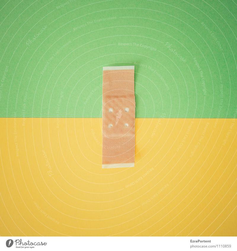 farblicher Zusammenhalt G|G grün Farbe gelb Linie Design Grafik u. Illustration Punkt graphisch Verbundenheit Heftpflaster zusammenpassen Grafische Darstellung