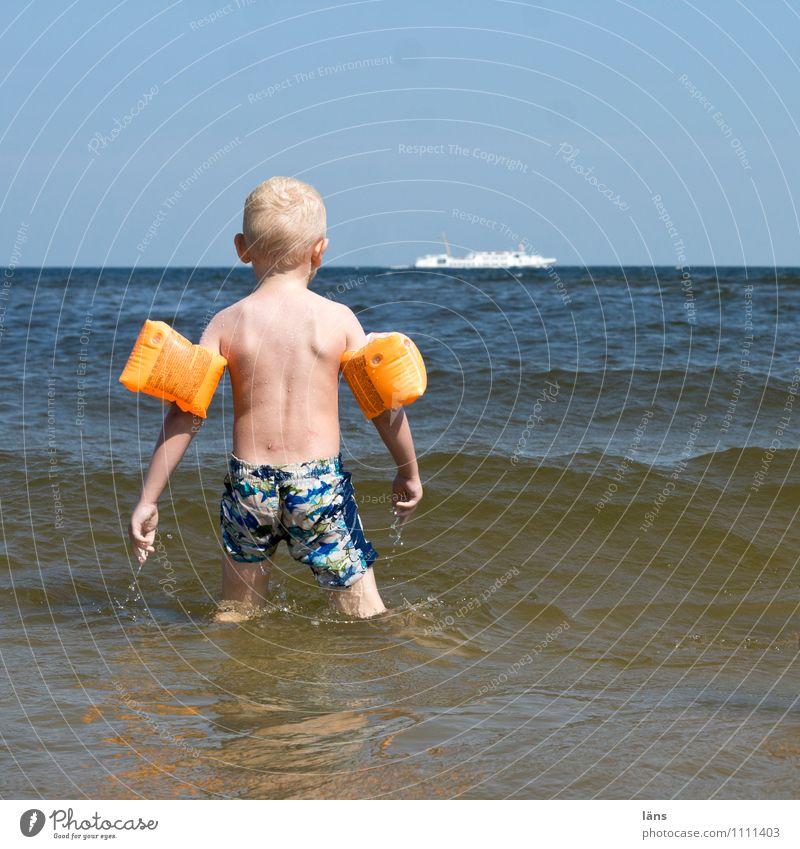 wo ist meine Wasserpistole Schwimmen & Baden Freizeit & Hobby Spielen Ferien & Urlaub & Reisen Tourismus Ferne Sommer Strand Meer Wellen maskulin Kind Kleinkind