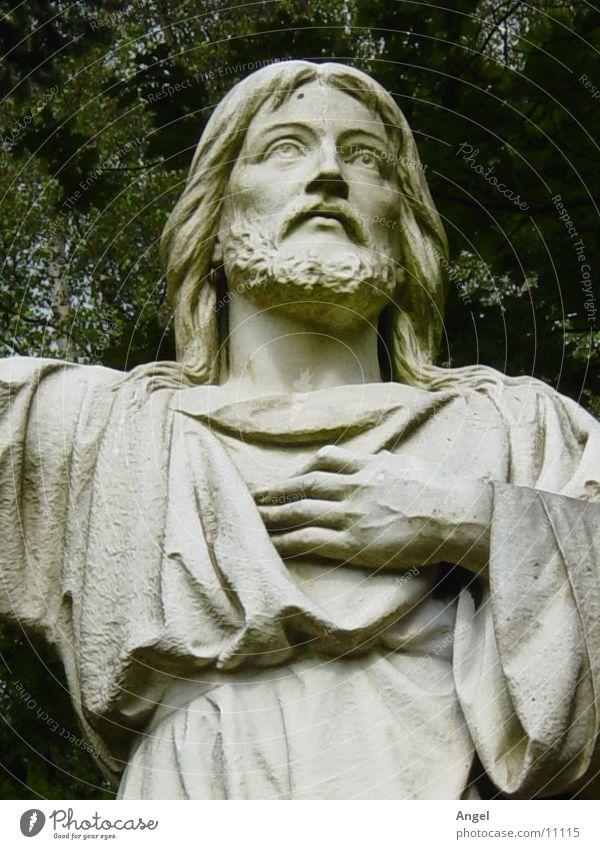 Jesus Dinge Statue Jesus Christus Friedhof