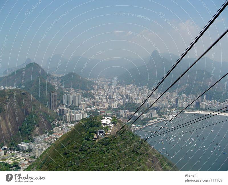 Bond Film Moonraker / ohne Jaws who bites the cable Rio de Janeiro Brasilien Seilbahn Wahrzeichen Corcovado-Botafogo Aussicht Verkehrsmittel Hügel Atlantik
