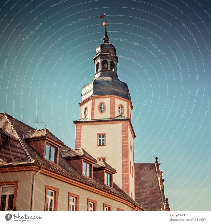 Rathausturm Ettlingen Deutschland Tourismus Europa retro Turm Städtereise Kleinstadt Rathaus Baden-Württemberg
