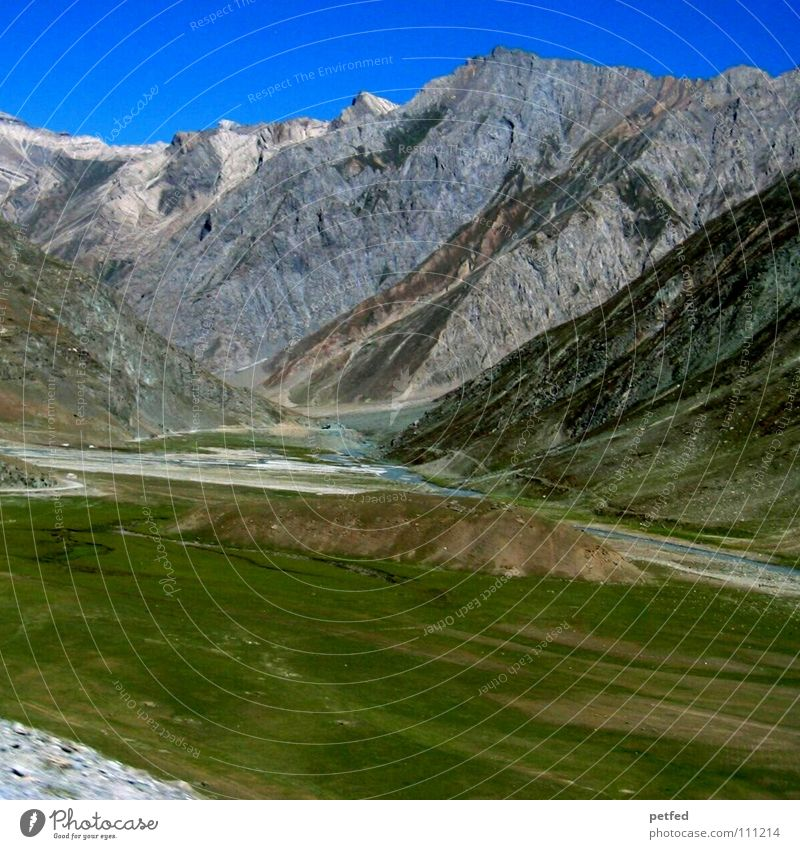 Zojilla Pass Kaschmir I Himmel grün Ferien & Urlaub & Reisen Berge u. Gebirge Erde hoch wandern Kultur Asien Amerika Indien Gletscher Bergsteigen Steppe Nepal
