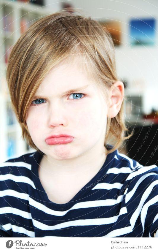 manno, das mit den... Spielen maskulin Junge Familie & Verwandtschaft Kindheit Gesicht Auge Mund Lippen 1 Mensch 3-8 Jahre blond langhaarig Liebe frech schön