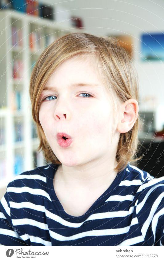 ooooooooOstern Kind blau schön Freude Gesicht Auge lustig Junge Spielen Haare & Frisuren Familie & Verwandtschaft maskulin blond Kindheit Fröhlichkeit verrückt