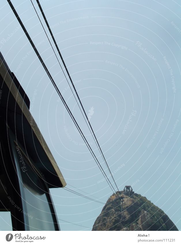 ... das Leben am eisernen Faden Rio de Janeiro Brasilien Seilbahn Wahrzeichen Corcovado-Botafogo Verkehrsmittel Hügel Südamerika Pão de Açúcar Sehenswürdigkeit