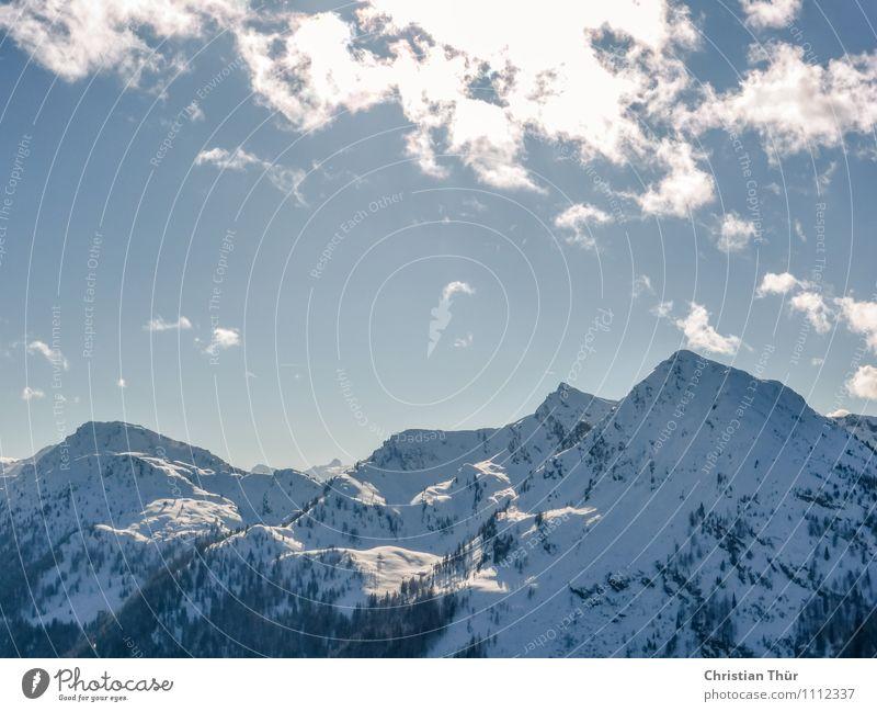 Wintertag in den Alpen Erholung Sport Skier Skipiste Umwelt Natur Landschaft Schönes Wetter Schnee Schneefall atmen Österreich beautiful clouds cold dachstein
