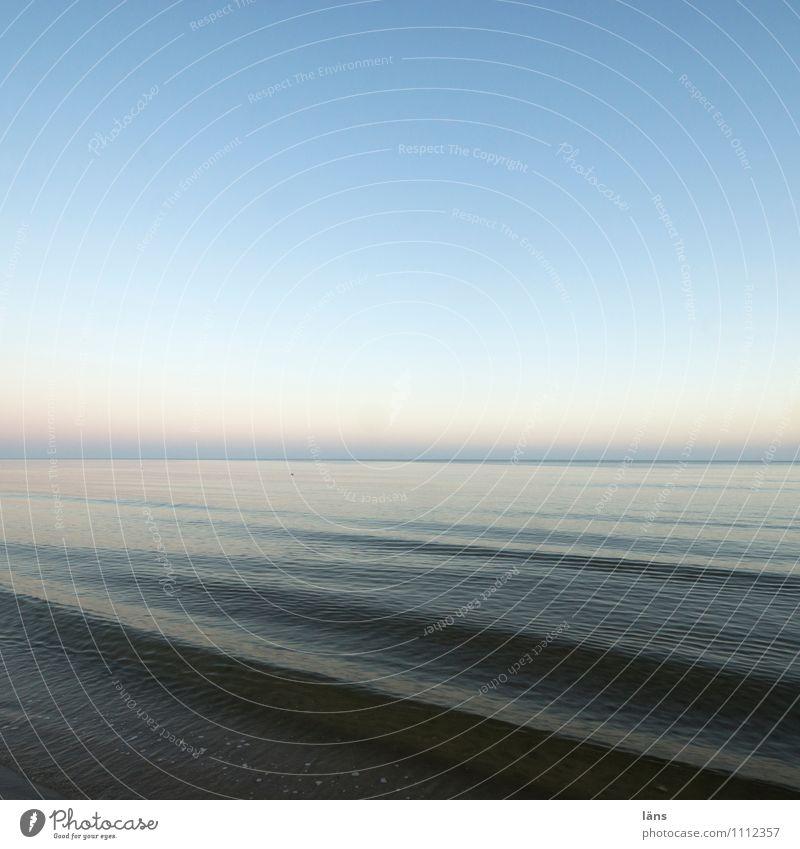 still geht der Tag Himmel Natur Ferien & Urlaub & Reisen blau Wasser Sommer Meer Landschaft Ferne Umwelt Küste Horizont träumen Zufriedenheit Wellen Tourismus