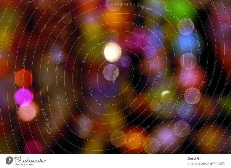 shine*in durcheinander spektral Lichtpunkt Unschärfe dunkel schwarz türkis Schmuck Perlenkette obskur verwaschen ungenau Reflexion & Spiegelung lichtmagnetisch
