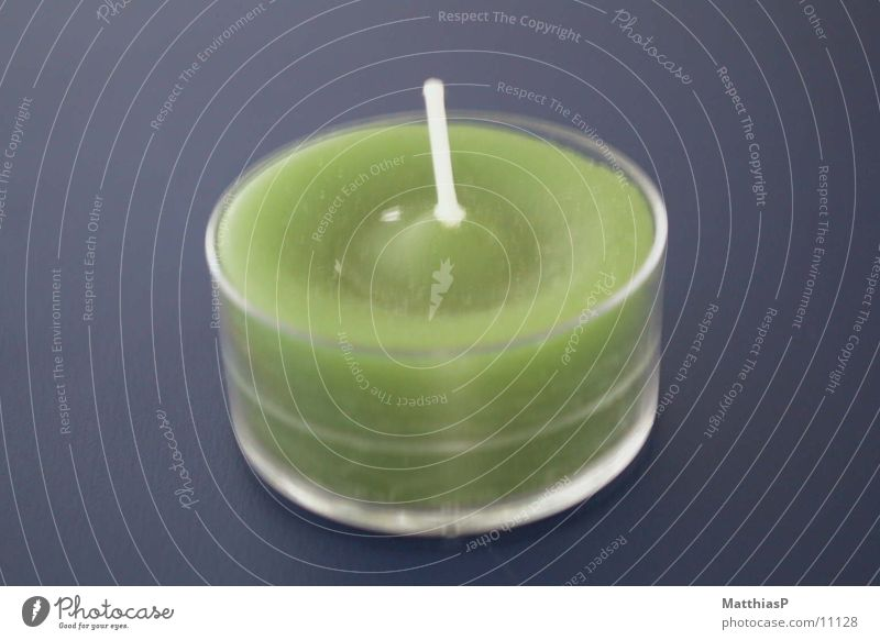 Kerze klein grün Teelicht Licht Dinge Duft