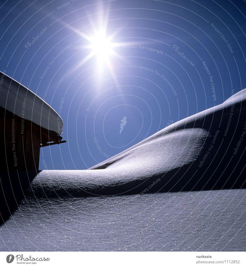 Winterimpression, Hahnenkamm, Adelboden Sonne Schnee Winterurlaub Berge u. Gebirge Alpen kalt blau Berner Oberland Schweiz Himmel Eis Eindruck