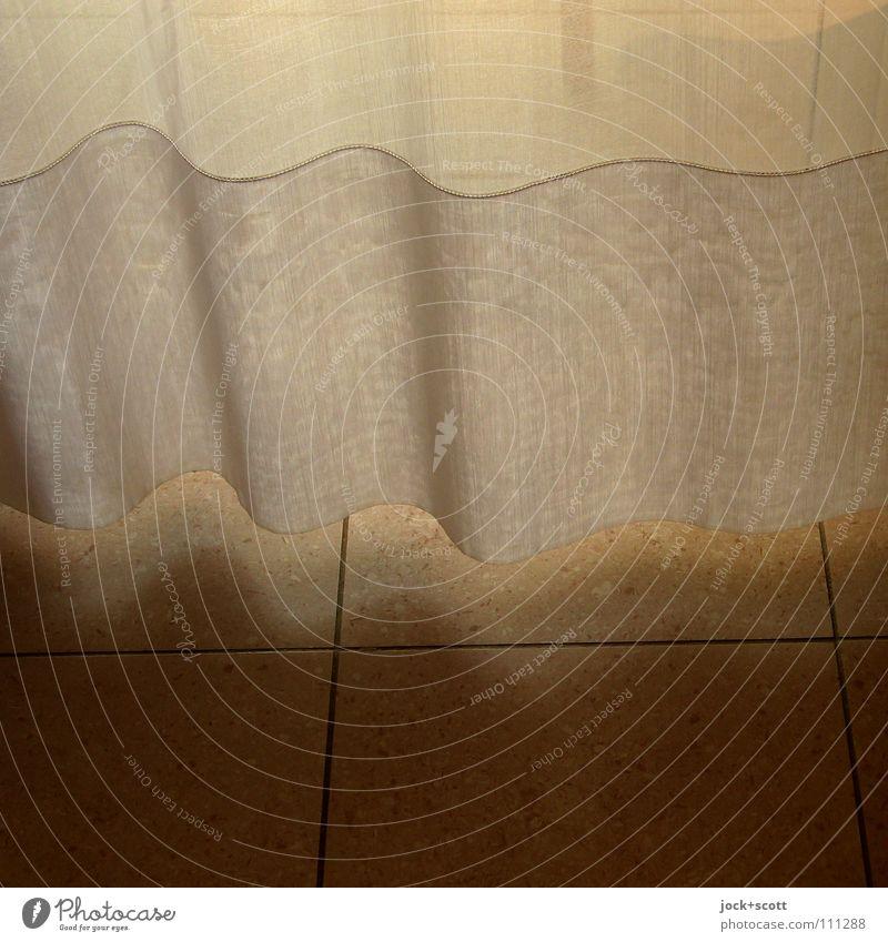 Lichtgrenze durch Gardine Häusliches Leben Dekoration & Verzierung Schlafzimmer hängen elegant Wärme weich Warmherzigkeit Reinheit bescheiden zurückhalten