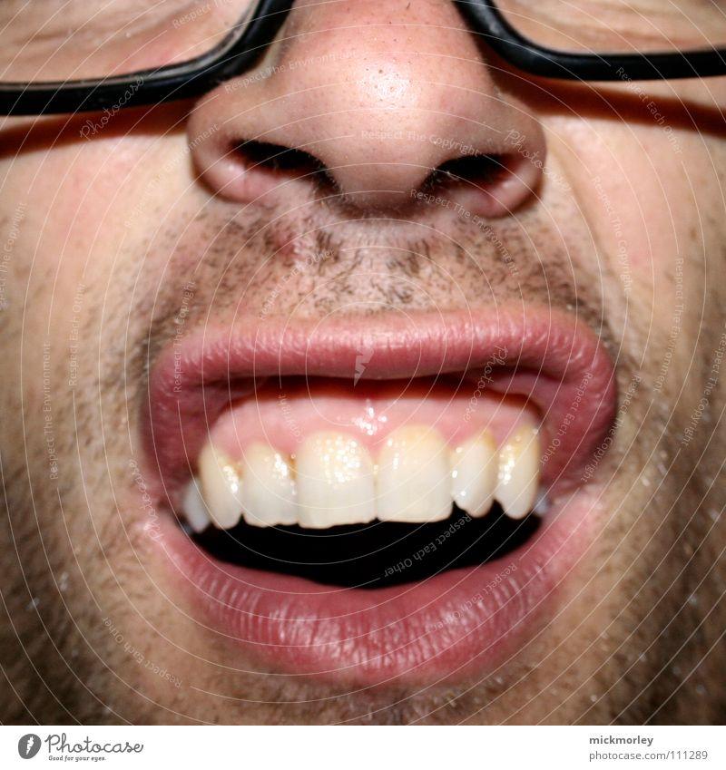 was gibts aldde Brille weiß rot Nasenloch Artist Bart Tag 3 schön Freude Lippen Zähne