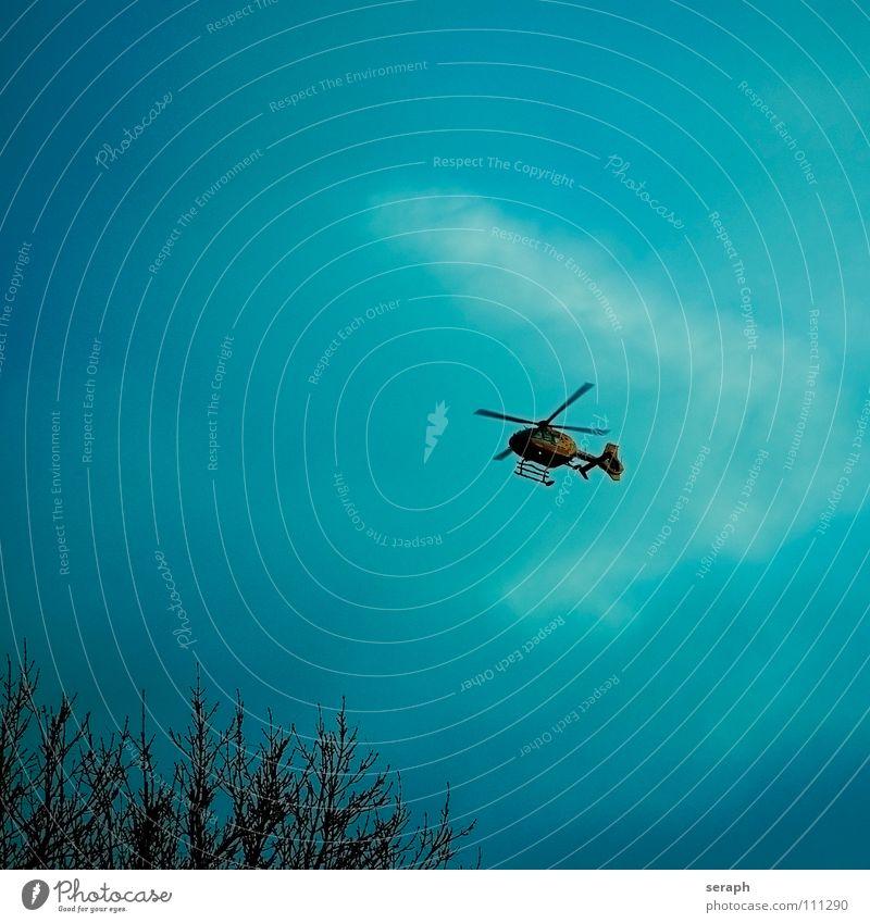 Helikopter Hubschrauber Luft fliegen Luftverkehr Himmel fliegend rotieren Güterverkehr & Logistik Personenverkehr Tragfläche Tiefflieger Rettungshubschrauber