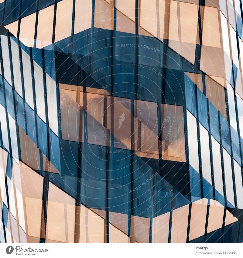 S Fenster Architektur Stil Gebäude außergewöhnlich Linie Fassade Design Ordnung Glas Perspektive Bauwerk Irritation Surrealismus Symmetrie