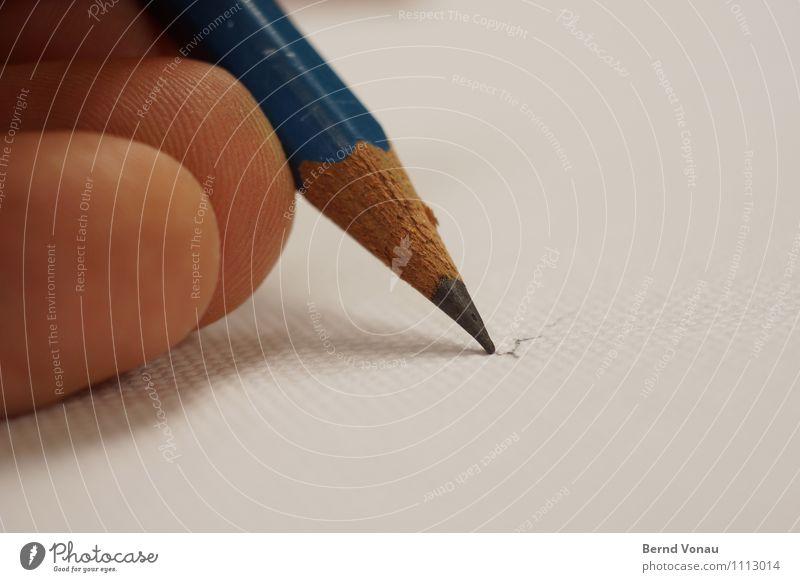 vorzeichnen Mensch Mann blau weiß Erwachsene Holz braun Kunst Haut Spitze Finger malen zeichnen Schreibstift rau Bleistift