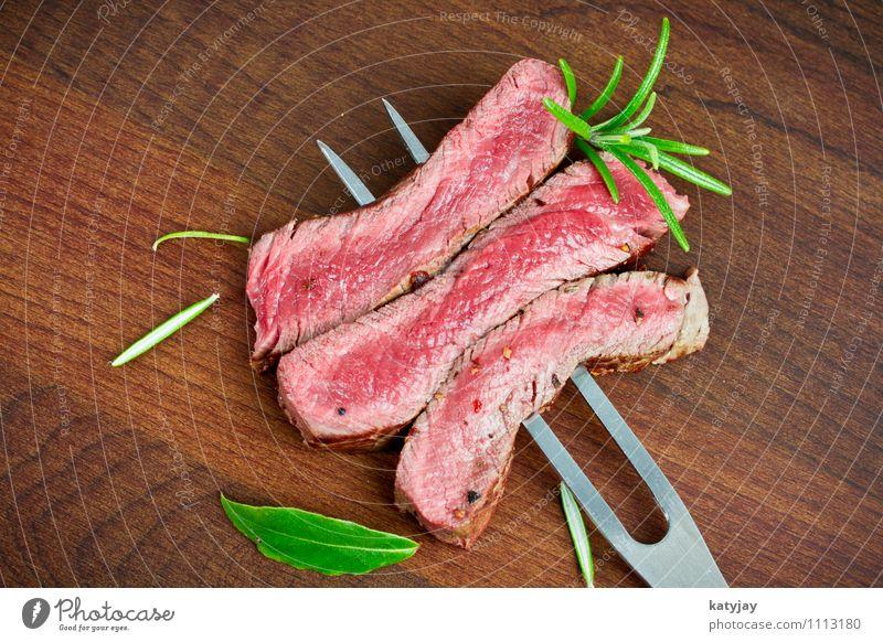 Steak Gesunde Ernährung Speise Essen Holz Foodfotografie Kochen & Garen & Backen nah Medien Holzbrett Restaurant Grillen Fleisch Blut Pfeffer