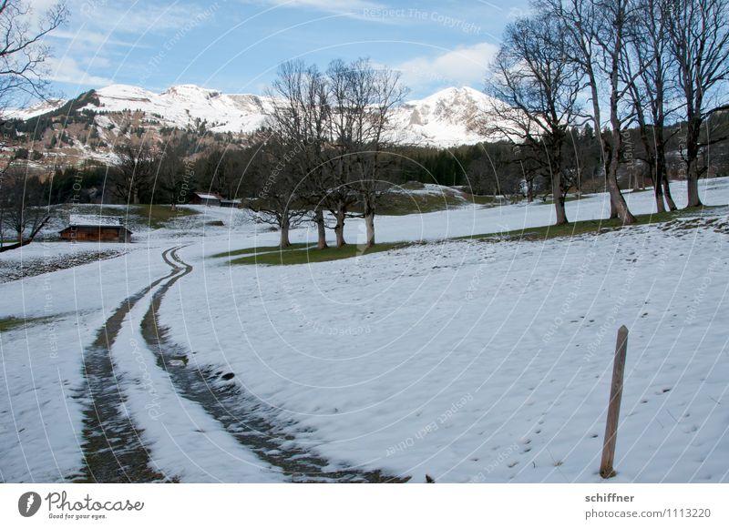 Almöhi hat heutzutage Vierradantrieb Landschaft Schönes Wetter Eis Frost Schnee Hügel Felsen Alpen Berge u. Gebirge Gipfel Schneebedeckte Gipfel kalt Spuren